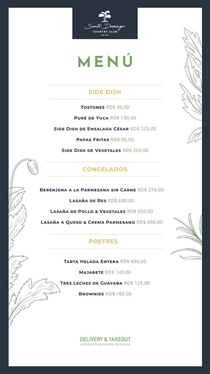 menu sides